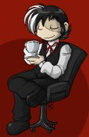 Black Jack - Enjoying Coffee by deeum
