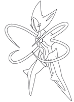 Deoxys Attack Form Line Art by kawaii769