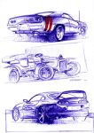 3 car sketches by grote-design