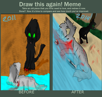 Draw this Again! Ashfurs death! by babyfawns