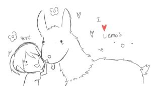 I Love Llama's :D by EliteBurger