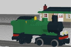 GWR 0-4-2T Class 1400 loco by YanamationPictures