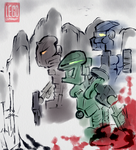 fake bionicle painting by stupjam
