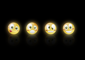 emoticons wallpaper glossy ed. by sam2993