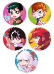 Yu Yu Hakusho badges set by PlainPaper