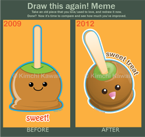 Draw This Again: Caramel Apple by kimchikawaii
