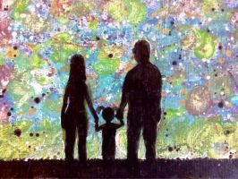 Family Under Painted Sky by lobosolo