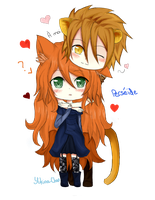 COMISSION- MilouCaribou -Adelaide et Persee by Yukina-Chi