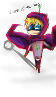 Mysterion Doodle by CookiemonsterMS