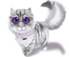 Chibi Fluffy Russia by Squidpocolypse