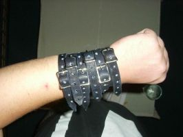 steam-punk, goth bracelet by Shimaha