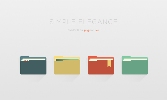Simple Elegance: Folder Types [+16x16px Lineart] by Maileanis
