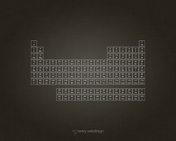 Periodic Table Denim Wallpaper in Brown by averywebdesign