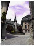 Calm Street of Lausanne by reinemab