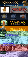 Erin Hunter book banners for FooPets by brindlecatt
