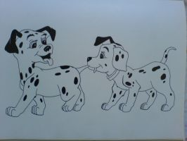 another two dalmatian dogs by anime-cy