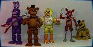 New Models Fnaf 2016 by Foxygamer360