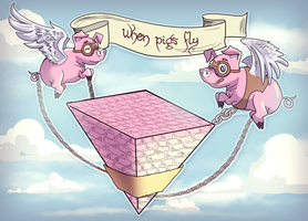 When Pigs Fly by AngieMyst