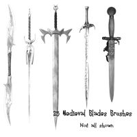 25 Medieval Blade Weapon PS Br by Spyderwitch