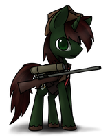 Key Commission: Shank as a Sniper by Chiramii-chan
