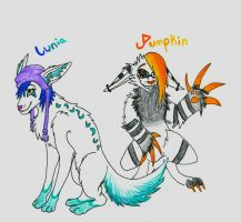 Lunia and Pumpkin by ForrestFoxes