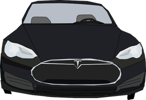 A Black Tesla Model S by OceanRailroader