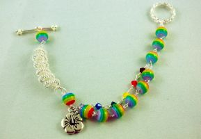 Rainbow Bracelet by michelleaudette