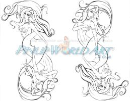 Dual Mermaid Tattoo by NicoleBrune