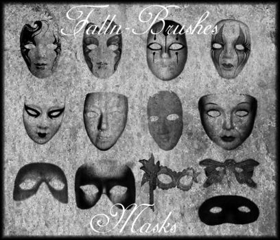 Masks Brushes by Falln-Stock