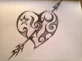 Heart tattoo by Ac1dR3d