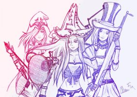 LOL - Ashe \ MF \ Caitlyn by younglinks