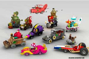 wacky races all characters by joeliveros