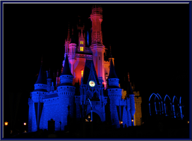 Castle in Pink and Blue by WDWParksGal
