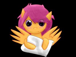 My little jello Scootaloo linetrace by JelloPonies