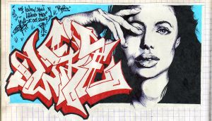Jolie for wall by SkmDron