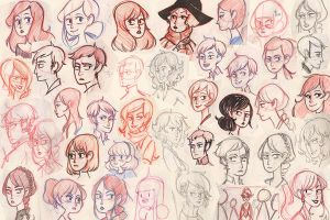 Sketches Moleskine by Cheeky-Bee