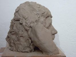 Female head, right profile by ThroughLenasEyes