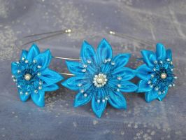 Turquoise Flower Headband by AtinaP