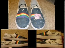 Nyan Cat Shoes by Nightstar1231