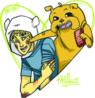 Finn and Jake! by kiki-SSH