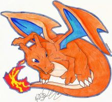 Charizard by Kellalizard