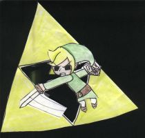 Toon Link And Triforce by GaarasGurl123