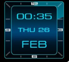 Square Animated Blue  Clock 2.3.2 by xordes