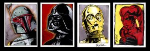 Star Wars Sketch Cards by jpc-art