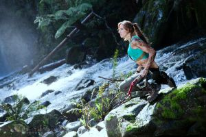 Lara Croft - Waterfall Shoot - Series 3 by MrAdamJay