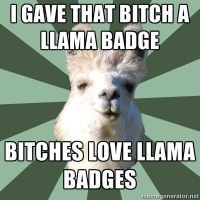 Llama Badges. Bitches Love Em. by Katrina-Crane