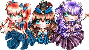 Halloween princesses~ by sakuraGx4nina