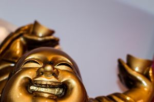 Laughing Buddha Laughing with a Fly on Top by Seph-the-Zeth