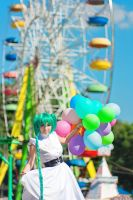 Miku and ferris wheel by TaisiaFlyagina
