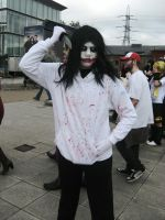 Jeff The Killer Cosplayer (London Expo) by kathXD123